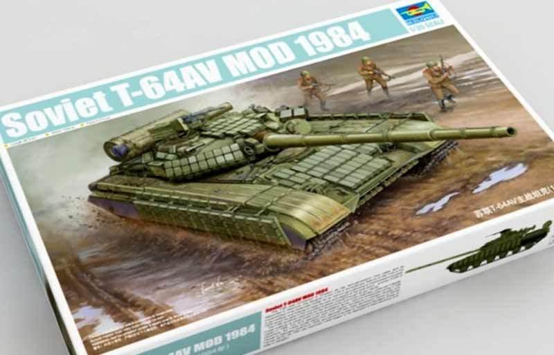 Trumpeter Soviet T-64AV Mod 1984 Model Kit 1 3 5 Russian Russian Kit New