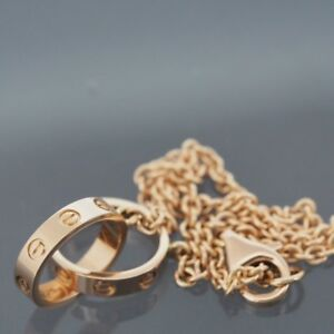 Image Is Loading Cartier 18k Rose Gold Baby Love Bracelet With