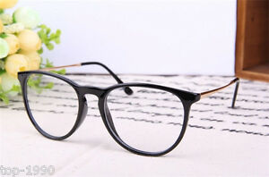 Fashion-Vintage-Retro-Frame-Clear-Lens-Nerd-Geek-Glasses-Eyeglasses-Black-Brown