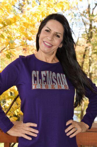 Clemson Tigers rhinestone glitter shirt  XS S M L XL XXL 1X 2X 3X 4X 5X