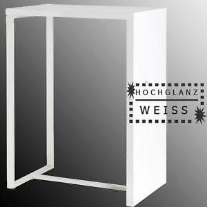 k chentresen wei hochglanz theke bartisch stehtisch empfangstresen esstisch bar ebay. Black Bedroom Furniture Sets. Home Design Ideas