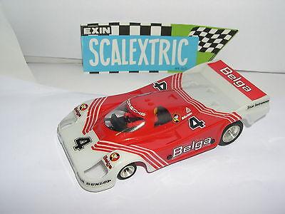 Elektrisches Spielzeug Scalextric Srs Exin 7011 Porsche 956 #4 Belgische Ausgezeichnet Zustand Bright Luster Kinderrennbahnen