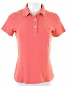 LACOSTE-Womens-Polo-Shirt-EU-38-Medium-Pink-Cotton-LQ11