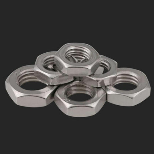 Stainless Steel 316 304 Hex Thin Nut Jam Nuts M3 M4 M5 M6 M8 M10 M12 M14 M20