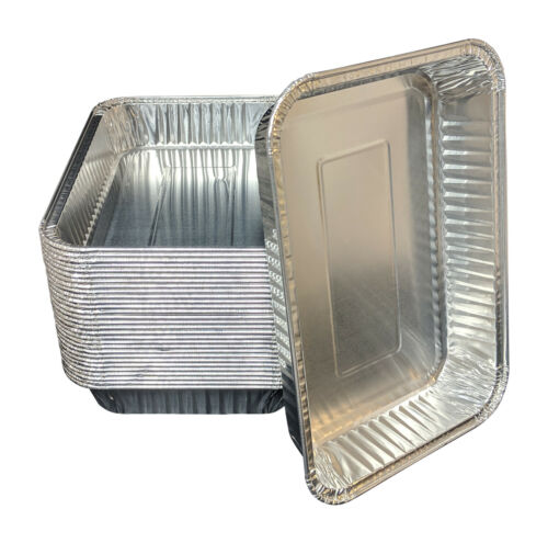 pinkada® Aluminum Foil Drip Pans 30 Bulk Package BBQ Grease Pans