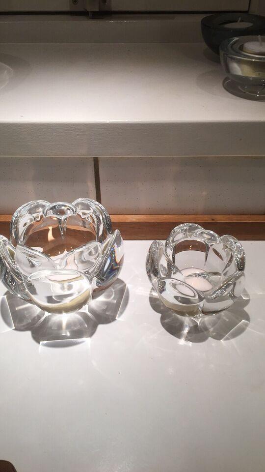 Glas, Lotusstager, Holmegaard