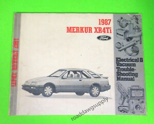 details about 1987 merkur xr4ti electrical wiring diagrams serviceimage is loading 1987 merkur xr4ti electrical wiring diagrams service shop