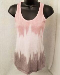 Hang-Ten-Womens-Red-Black-Gray-White-Design-Tank-Top-Shirt-Blouse-Size-S