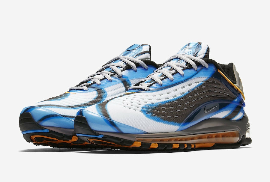2018 Nike Air Max Deluxe OG SZ 10 Photo Bleu Orange Peel Wolf Gris AJ7831-401