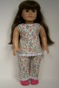 """Floral Pants For 18/""""Girl Price Doll Lo H0Q5 Cute Summer White Sleeveless Blouse"""