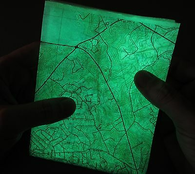 Made to Order Glow in the Dark, Waterproof, Topo Map. on Ultralight Paper.