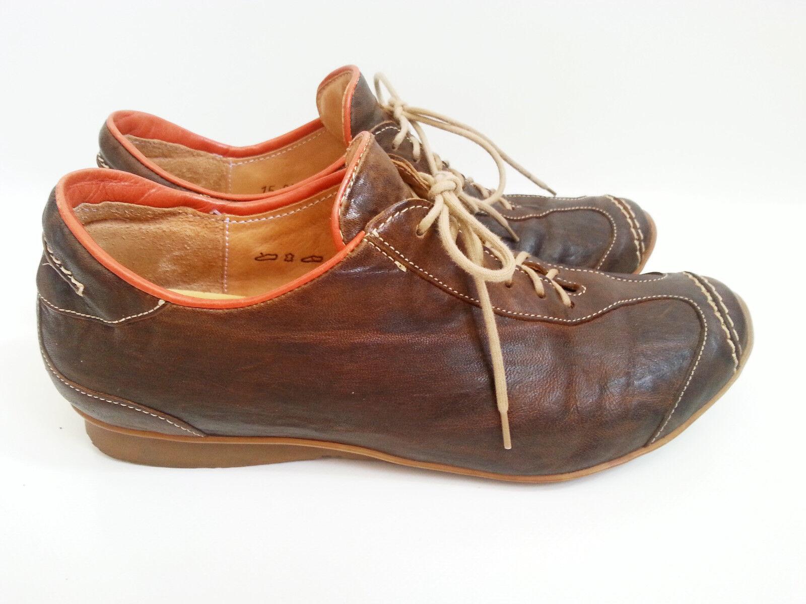 Think  Schuhe Sneaker Damenschuhe Turnschuhe Gr. 38 braun braun braun Lederschuhe 9a1cd2