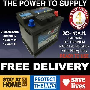 Vw Golf 063 Car Battery 45ah 390cca 12v 4 Year Heavy Duty O E Best In Uk Ebay