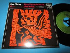 "Karl May: Das Vermächtnis des Inka - Folge 4 (CBS EP S 0095) Hörspiel - 7"""
