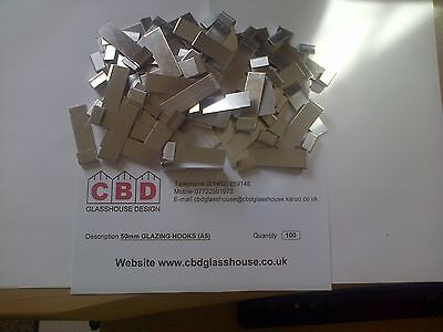Greenhouse Glass Clips /'Z/' Glass Clips for Greenhouse Spares pack of 100 pcs
