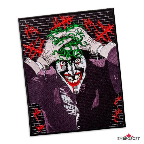 Joker SUPERVILLAIN Large Brodé Patch photo pour intérieur//CLOTHES IRON ON