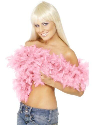 BOA DI PIUME ROSA DELUXE Carnevale Accessori Travestimento Ballerina Charlestone