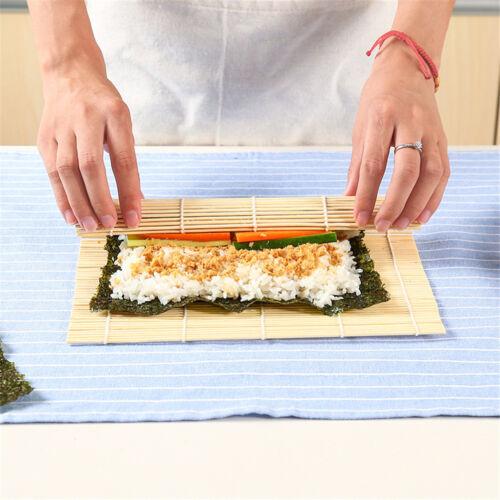 Sushi Matte Bambus Maker Kit Reis Rolle Mold Küche DIY Form Roller Reis Paddl W0