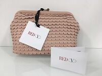 Red Valentino Pink Leather Clutch Bag Made In Italy With Tag And Dustbag