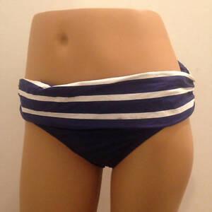 5123e6eef3753 RALPH LAUREN Ladies 14 Navy White Hipster Stripe Waistband Bikini ...