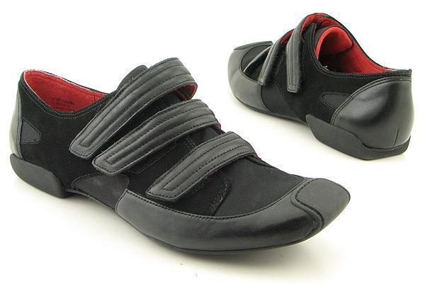 New KENNETH COLE REACTION donna nero Flat Loafer scarpe da ginnastica scarpe Sz 8.5 M