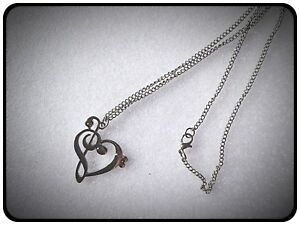Heart Shaped Music Note Necklacegift Ideamusicgigjewellery