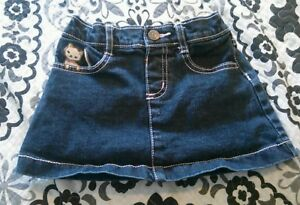 Baby & Toddler Clothing Skirts Gymboree Denim Mini Skirt Kitten Heart Embroidered Sz 24 2t Euc 2009 10 Gy Bts 2