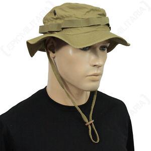 cc3e6c044d4d5 British Coyote Rip Stop Boonie Hat with Neck Flap - Sun Peak Bucket ...