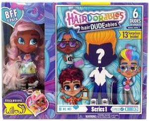 New-Hairdorables-Willow-BFF-amp-Dude-Boy-Hairdudeables-2-Doll-Set-Series-1-Sealed