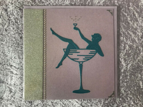 Handmade Art Deco greetings card blank inside 1 postage fee for up to 3 cards