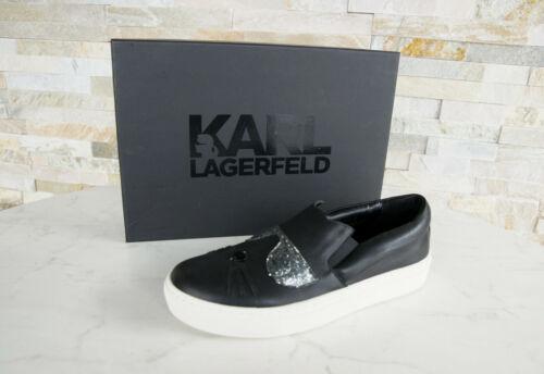 Us Lagerfeld 9 Hus Chaussures Slipper 40 Noir Uk7 Nouvellement uvp185 Eu Karl ngpUYwqaw