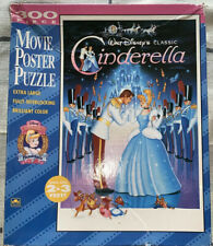 Golden Walt Disney Cinderella 300 Piece Movie Poster Jigsaw Puzzle 2 X 3 FT Vtg