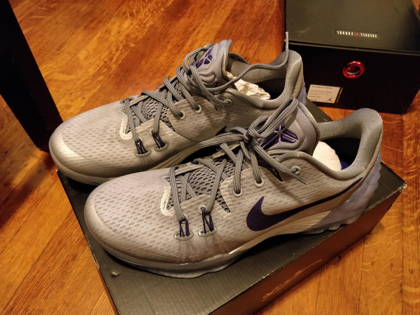 Nike Zoom Kobe Venomenom 5 Wolf Grey Court Purple Grey Shoes 749884-050 SIZE 10