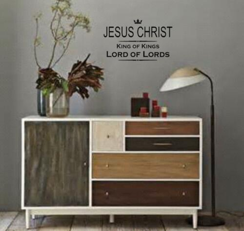 JESUS CHRIST King of Kings LORD of LORDS Wall Art vinyl Decal Window God Bible