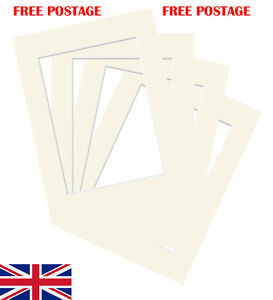 Ivory-Photo-Picture-Mount-Various-Sizes-Mounts-5x5-fit-3x3-to-11x9-fit-9x7