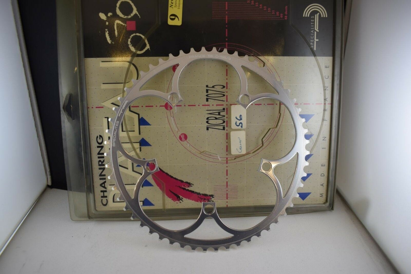 SPECIALITES chainring chainwheel sprocket 56 teeth BCD 135 for 9 speed alloy nib