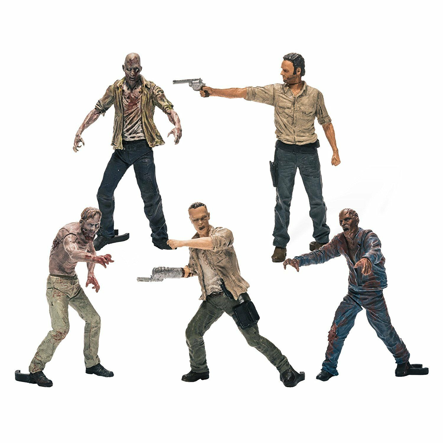 The Walking Dead Toy Set Rick Action Figure Pack Of 5 Zombie Figures