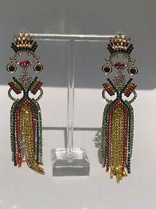 Stunning-Major-Designer-Style-Rhinestone-Chain-Embellished-Runway-Drop-Earrings