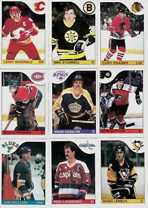 1985-86-OPC-COMPLETE-SET-1-264-TOPPS-STICKER-1-33-LEMIEUX-GRETZKY-MACINNIS