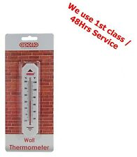 Wall Thermometer Indoor / Outdoor Use Small Handy Size Lightweight Plastic