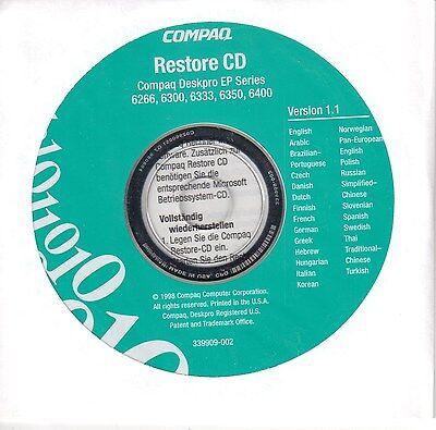 Compaq Restore CD for Deskpro EN Series