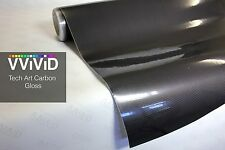 VViViD8 Gloss carbon fiber black tech art 3d 25 x 5ft Vinyl Roll wrap +3mil car