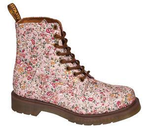 Details zu Dr.Martens Schuhe 8 Loch Page Meadow Damen Stiefel Blumenmuster