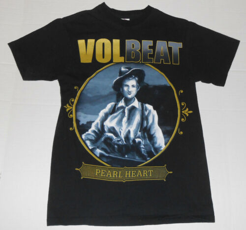 VOLBEAT Pearl Heart Band Concert Tour Black T Shi… - image 1