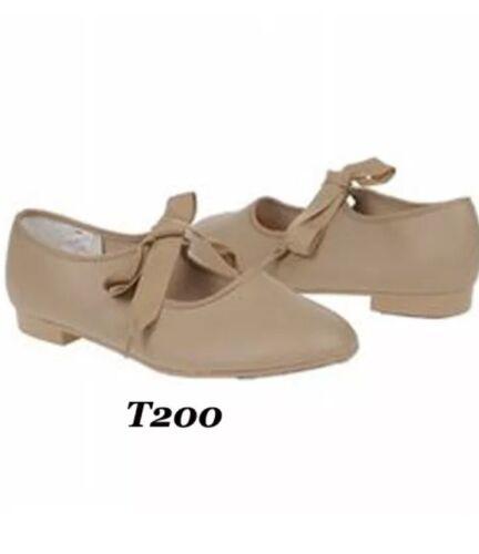NIB Trimfoot Student Maryjane Style Tap Dance Shoe Tan Black White Girls//Women