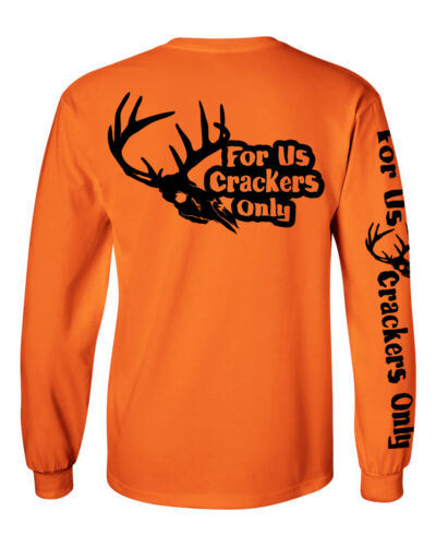 hunting south For Us Crackers Only long sleeve deer skull logo t shirt F.U.C.O
