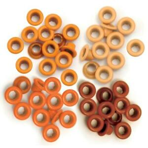 We R Memory Keepers - Standard Eyelets - Orange