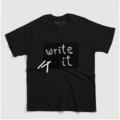 T-shirt scrivibile con gesso in latta-Cotone Twitter-Linea Uomo Donna Idea Regalo di Natale