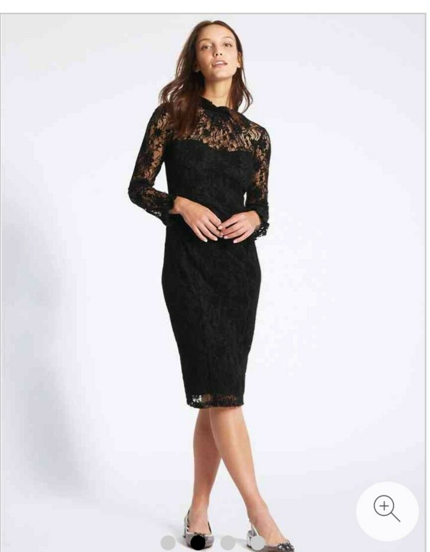 Marks and and spencer floral lace dress size 16nw tags