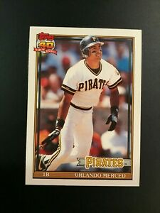 1991-Topps-Traded-81T-ORLANDO-MERCED-Rookie-Pittsburgh-Pirates-1-Card-Set